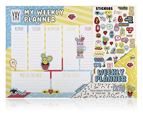 NPW NPW55641 Wochenkalender-Planer Schreibtisch-Block - Desktop-Wochenplaner Vibe Squad