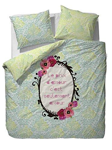 Covers&Co parure de lit motif bibi & renforcè coton menthe, Coton, vert, 135 x 200 cm