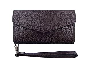 ATV PU Leather DARK CHOCOLATE COLOR Pouch Case Flip Cover For Apple iphone 7 Plus