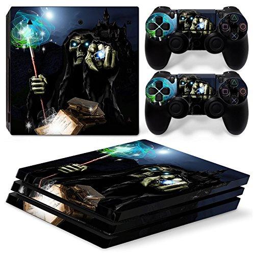 Produktbild 46 North Design Playstation 4 PS4 Pro Folie Skin Sticker Konsole Magic Skull aus Vinyl-Folie Aufkleber Und 2 x Controller folie
