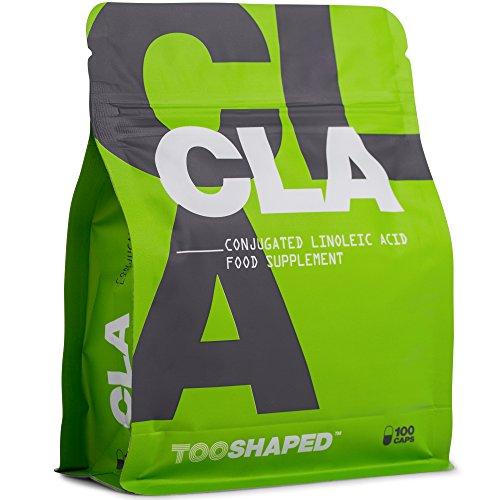 CLA 1000 mg Softgel-Kapseln - Fatburner, Muskelaufbau und normaler Cholesterinspiegel - 100 Kapseln hochdosiert - konjugierte Linolsäure von TOOSHAPED
