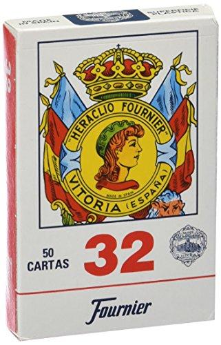 Fournier - Nº 32, 50 cartas españolas, color azul / rojo (F20993)