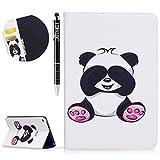SainCat für iPad Mini 4 Hülle Bookstyle Premium Handyhülle mit Kartenfach Handytasche Standfunktion Stoßfest Leder Flip Case Schutzhülle für iPad Mini 4-Großer Panda