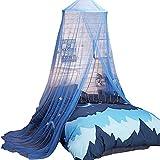 uarter Boho princesa niñas mosquitera cama dosel mosquitera cónica cortinas Kids Play tienda de campaña con estrellas para niños, azul