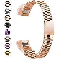 BeneStellar Fitbit Alta HR Armband, Milanese Edelstahl Uhrenarmband Mailänder Magnetschleife Edelstahlband Ersatz Armband Für Fitbit Alta HR und Alta
