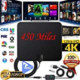 Thboxes Indoor TV Antenna+ Digital Aerial HD Freeview Amplified Thin HDTV 450 Mile Range
