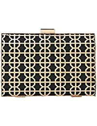 Paradox Womens Hard Case Party Wedding Evening Hand Box Clutch Bag
