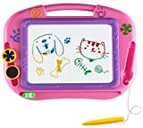 Magnetic Drawing Board Games Toys For Kids- Erasable Colorful Magna Doodle Sketch Tablet Education Writing Pad - Gift for Little Girls Boys Kids Children Travel Size (Pink)