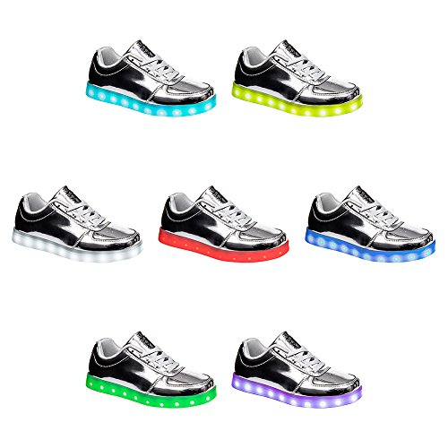 Bleeding Heart Shiny LED Sole Sneaker Silber