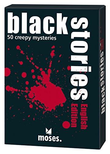 moses. black stories English Edition, 50 rabenschwarze Rätsel, Das Krimi Kartenspiel