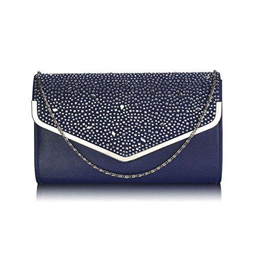 TrendStar Large Kupplungs Beutel Umschlag Diamante Partei Abschlussball Braut Abend Meine Damen Handtasche (Braut-abschlussball-abend-handtaschen)