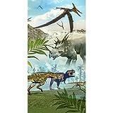 Good Morning Strandlaken Strandtuch 5036 Dinoworld Dinosaurier 75x150 cm