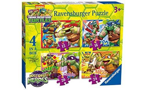 Teenager mutant Ninja Schildkröten Puzzle - Original Ravensburg Qualität 4 in 1 Box
