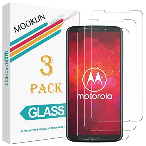 MOOKLIN Panzerglas Bildschirmschutzfolie für Motorola Moto Z3 Play, 9H Härte, Anti-Kratzen, Anti-Bläsche, [3 Stück]