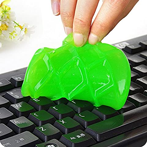family-baby 4PCS Magic Keyboard Cleaner Gel Sticky Jelly Destop Laptop Computer Dust Remover Flexible Soft Glue