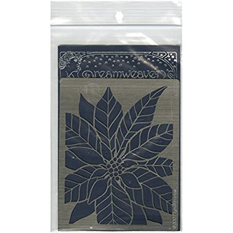 Stampedous Dreamweaver Metal Stencil, Large Poinsettia by