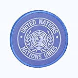 Abzeichen ´Vereinte Nationen (UN)´ Aufnäher Patch United Nations Nations Unies Ø 70 mm