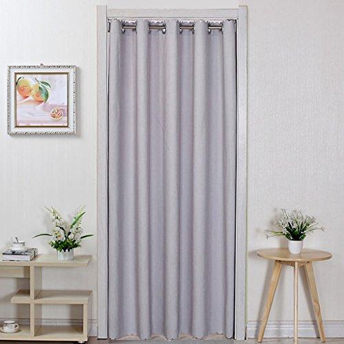 Liuyu · Lebendes Haus Tür Vorhang Tuch Einfarbig Haushalt Schlafzimmer Wohnzimmer Küche Abgeschnitten Vorhang Klimaanlage ( Farbe : Grau , größe : 200*150cm )