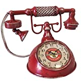 Rétro Pendel Metall in Form eines Alten Telefons