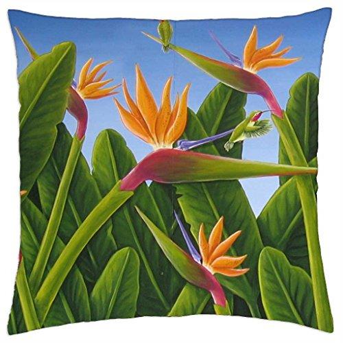 BIRDS OF PARADISE - Throw Pillow Cover Case (18 (Paradise Cover Of Bird)