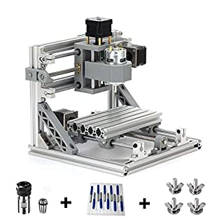 TopDirect CNC Fräsmaschine mit 5mm ER11, 160 * 100 * 45mm, DIY CNC Router Maschine Mini Holz PCB Acryl Fräsmaschine Metall Gravur Carving Maschine + 10pcs 3.175mm CNC Fräsbits + 4pcs CNC Halter