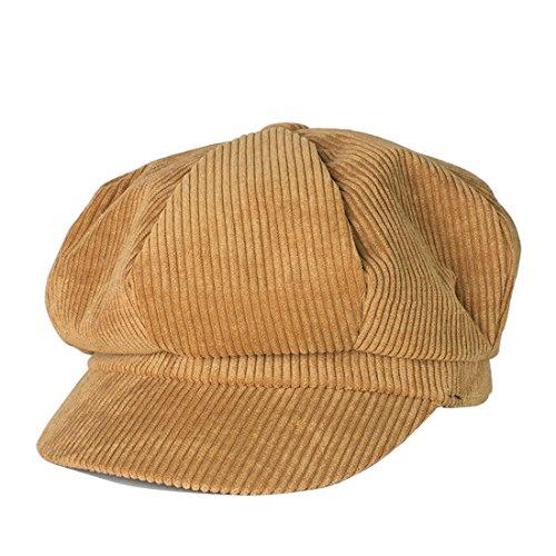 Kuyou Winter Gatsby Newsboy Barett Cap Schirmmütze Kappe Hut (Kamel)