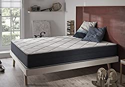 Matelas à mémoire de forme SUPERVISCO 120 x 190 cm en mousse adaptative Blue Latex® à 7 zones de confort MATELAS HAUT DE GAMME REVERSIBLE faces été/hiver, 25 cm