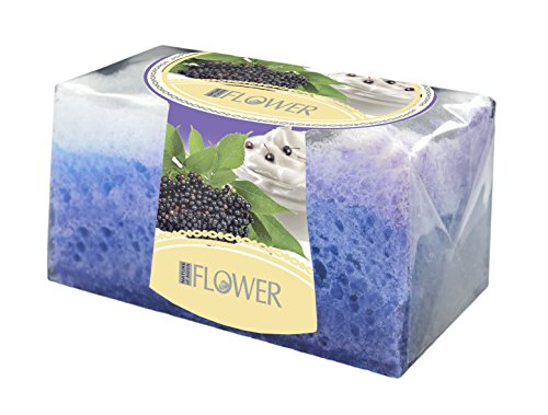 Nature of Agiva Glycerin Handmade Soap with Sponge - Aroma Elderberry and Yogurt