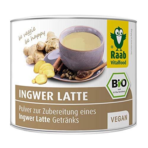 Raab Vitalfood Bio Ingwer-Latte Getränke-Pulver mit 35 {703e77441f5a2427e810b623179c21feec656ba94eb46bf92f623c24d19d7fd9} Ingwer und Zimt, 1er Pack (1 x 70 g)