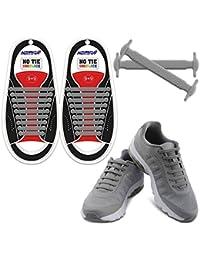 Homar No Tie Lacci per scarpe per bambini e adulti - Impermeabile in  silicone elastico piatto d583d7d6462