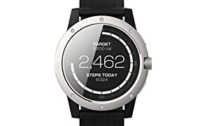 Matrix MATPW01 PowerWatch – Smartwatch, no charging needed, works with body heat, 50m water resistant, PowerWatch App, customizable - Black