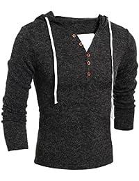 802885fe929e52 Xinan Sweatshirt Herren Hoodie Männer Kapuzen Pullover Top Bluse Herren  Kapuzenpullover Strickpullover Hoodie Plaid…