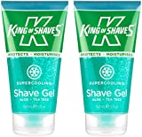 King of Shaves Supercooling Shave Gel 150ml TWIN-PACK