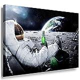 Kosmos Leinwandbild LaraArt Bilder Mehrfarbig Wandbild 100 x 70 cm