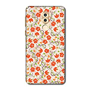 HappyGrumpy Case Cover For Huawei Honor 6X (Hard black Printed Panels)
