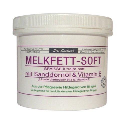 3 Dosen / Tiegel Melkfett Soft mit Sanddornöl und Vitamin E von Dr. Sachers