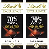 Lindt Excellence 70% Cocoa Dark Chocolate, 100g (Pack of 2)