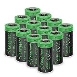 Enegitech CR123A Lithium Batterie Akku 3V 1600mAh Fotobatterie Nicht Wiederaufladbare für Taschenlampe, Polaroidkameras, Camcorder, Spielzeug Fernbedienung 12-er Pack