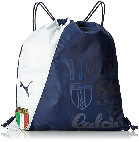 Puma Italia Fan Wear Gym Saco-Balón de Light Gray Heather, Color Peacoat-Light Gray Heather, Tamaño 44 x 31 x 0.5 cm