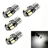 Ouneed® 4pcs / Lot Canbus T10 8 cms 5630 5730 DC 12V 2W LED voiture Lumière Canbus SMD Ampoule Led
