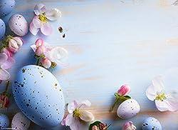 """Tischsets I Platzsets - Ostern - """"Schönes Osterarrangement mit Mini-Eiern und Blüten"""" - 12 Stück in hochwertiger Aufbewahrungsmappe"""