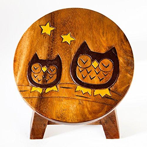 gatto motivo in legno Robusto Sgabello per bambini