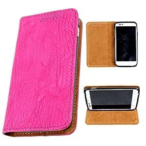 i-KitPit PU Leather Flip Case For Blackberry Q5 (PINK)