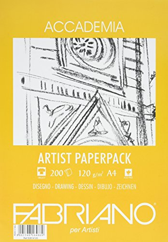 Unbekannt Fabriano Zeichenpapier, Baumwolle, weiß, 21 x 29.7 x 0.5 cm