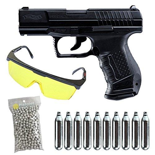 Walther PAQUETE COMPLETO CON ACCESORIOS -Umarex p99 co2 culata metal  blowback Calibre 6mm  1 Julio de potencia-