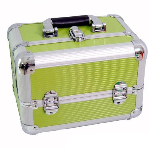 DynaSun ALU Design Beautycase Schmuckfach Schminkkoffer Kosmetikkoffer, 31 cm, Grün