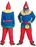 Karneval-Klamotten Zwergen Kostüm Herren Zwerg Kostüm Herren-Kostüm mit Zwergen-Mütze Garten-Zwerg Karneval Größe 52/54