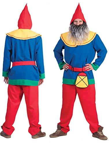 Laterne Herren Für Kostüm Grüne - Karneval-Klamotten Zwergen Kostüm Herren Zwerg Kostüm Herren-Kostüm mit Zwergen-Mütze Garten-Zwerg Karneval Größe 56/58