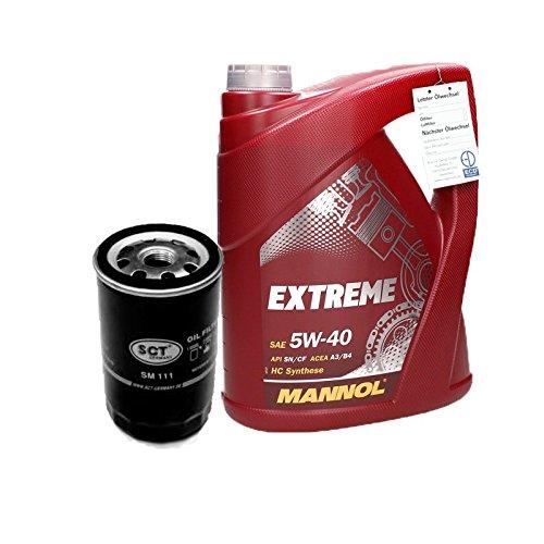 MANNOL 5W40 Extreme Motoröl 5l + Ölfilter
