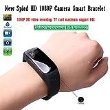 Smart Armband Spion Kamera 1080 P HD Mini DV mit versteckter tragbarer Überwachung Video Recorder einstellbares Armband @ Laing-H
